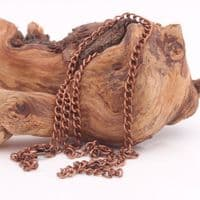 Copper Plated Linked Chain 46cm (18